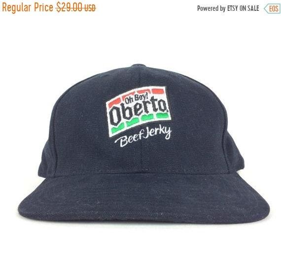 On Sale Now Oh Boy Oberto Beef Jerky Logo Black Baseball Cap  1c3059a2d80