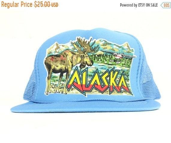 3ceaf534ebb48 On Sale Now Vintage 90s ALASKA Moose Seaplene Wilderness Scene