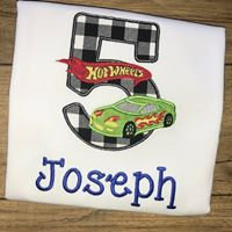 Race Car Birthday Shirt Party 1st 2nd