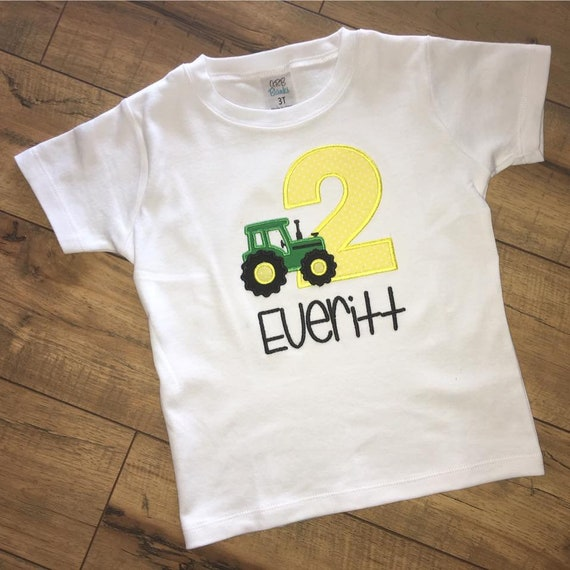 Tractor Birthday Shirt Party Farm 1st 2nd