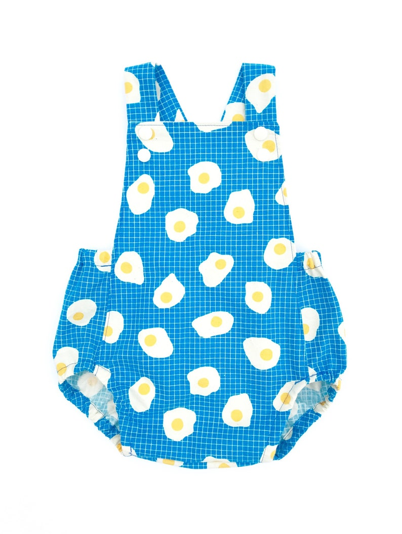 0e57fe5952c9 Fried Eggs Sunsuit Romper Baby or Toddler Boy or Girl Outfit