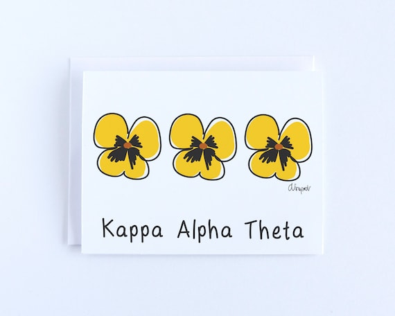 Kappa Alpha Theta Pansy Officially Licensed Notepad