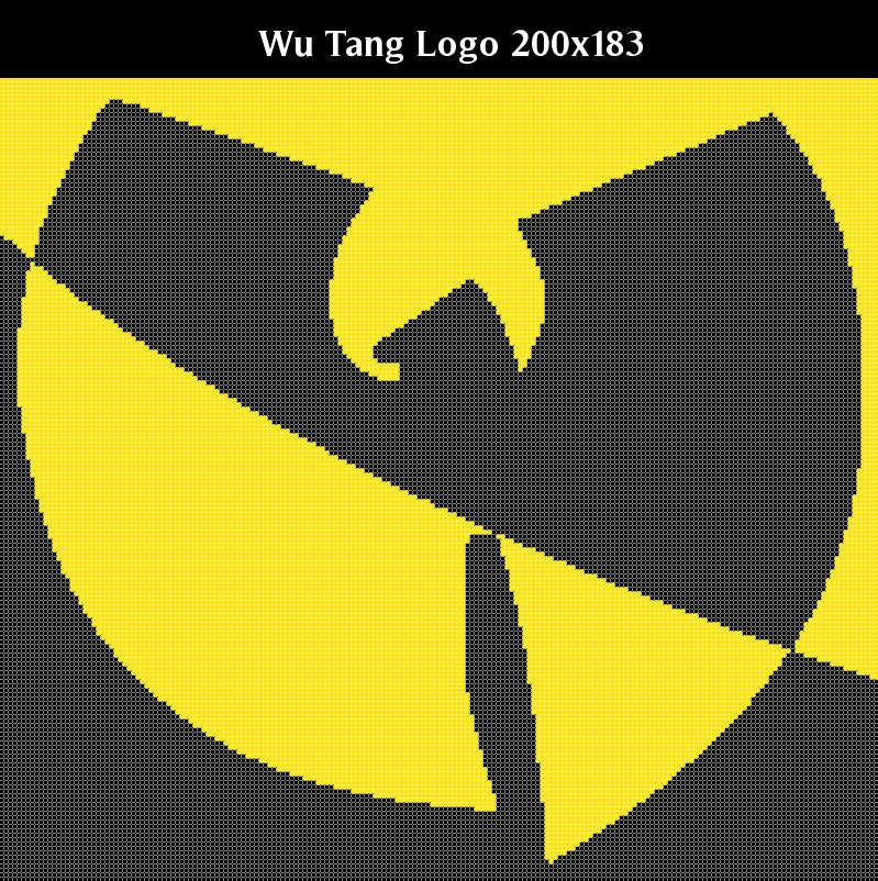 Wu Tang Clan Logo Counted Cross Stitch Or Knitting Chart Etsy