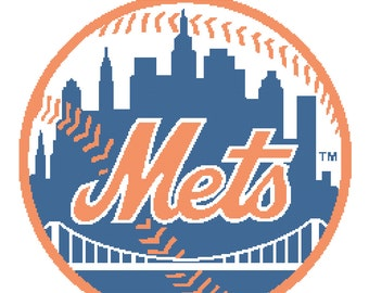 New York Mets -- Counted Cross Stitch Chart Patterns, 4 sizes!