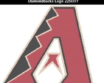 Arizona Diamondbacks -- Counted Cross Stitch Chart Patterns, 3 sizes!
