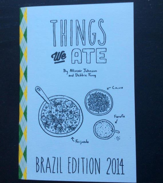 zine cover: Things We Ate Brazil Edition