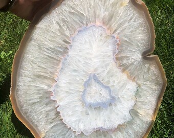 Agate slab - agate crystal - raw quartz crystal - agate stone - agate geode - display crystal - healing crystals and stones 42