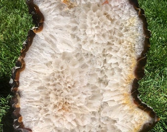Agate slab - agate crystal - raw quartz crystal - agate stone - agate geode - display crystal - healing crystals and stones 46
