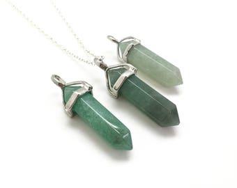 Aventurine pendant etsy green aventurine necklace green aventurine pendant healing crystal necklace crystal point pendant healing crystals and stones aloadofball Choice Image