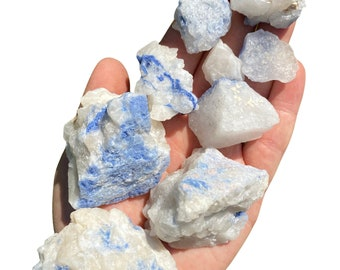 35910 DUMORTIERITE AAA Acicula in QUARTZ Housewarming Gift Home Decor Raw Crystals and Stones Raw Crystal