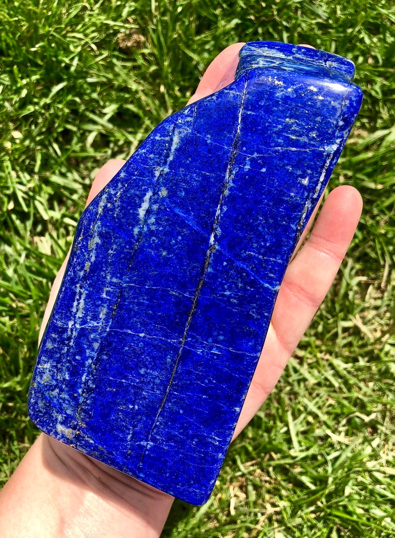 a11e9cdd2c2df8 Lapis Lazuli Stone polished A quality lapis lazuli lapis | Etsy