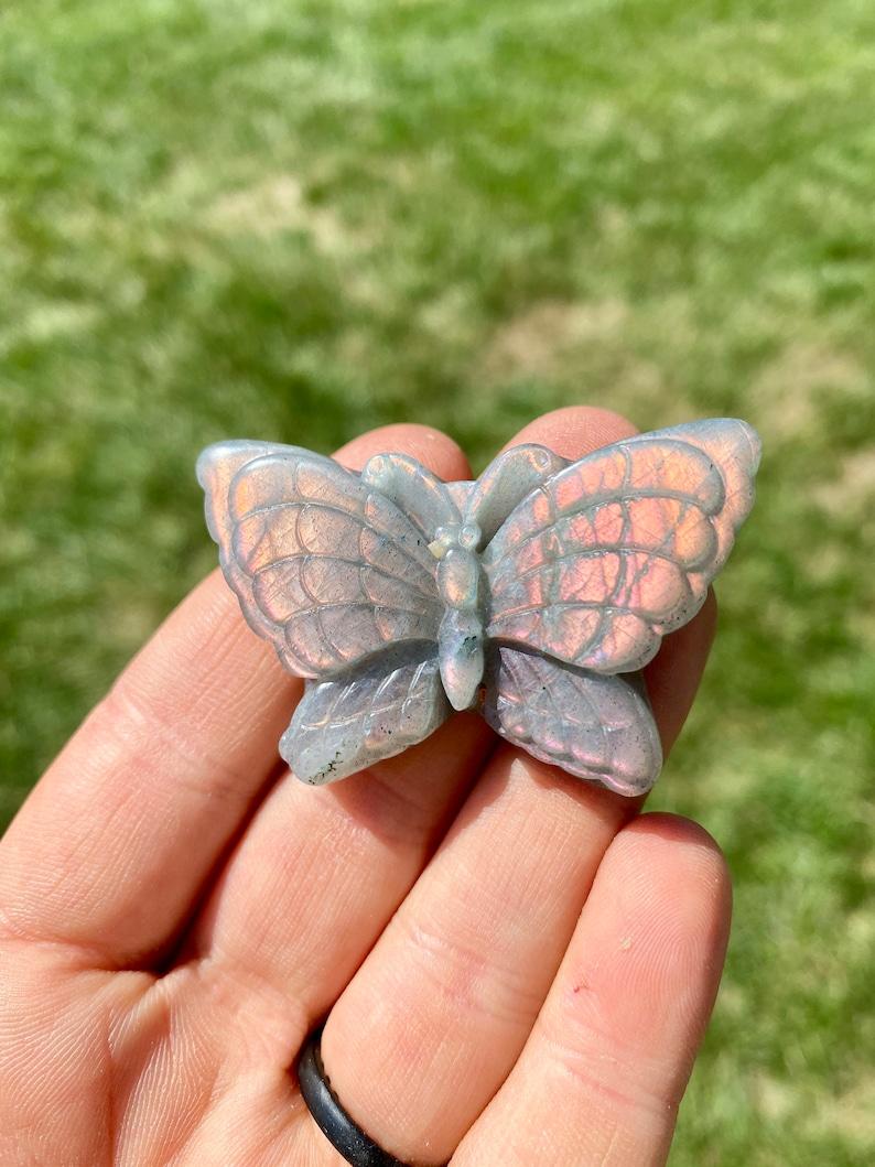 Labradorite butterfly stone labradorite hand carved stone butterfly Labradorite stone butterfly ~2 Labradorite crystal butterfly