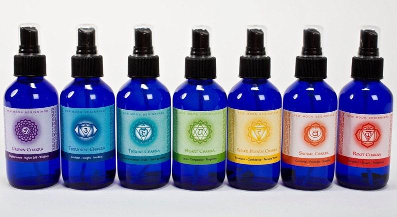 chakra spray Set  7 chakra spray  seven chakra body spray  4oz (set of 7)