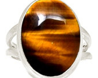 Tiger Eye Ring - Tigers Eye Crystal Ring Size 7 - Sterling silver - Tigers Eye Stone - tigers eye jewelry - Size 7 Ring Sterling Silver 242