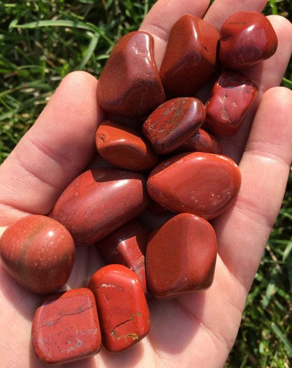 Red Jasper Stone Tumbled Gemstone Red Jasper Healing Etsy