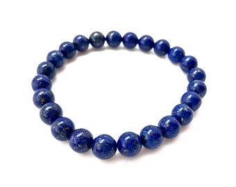 Lapis Lazuli Bracelet - Healing Crystal Bracelet - Lapis Lazuli Jewelry - Lapis Lazuli elastic bracelet - Lapis Lazuli jewelry - blue stone
