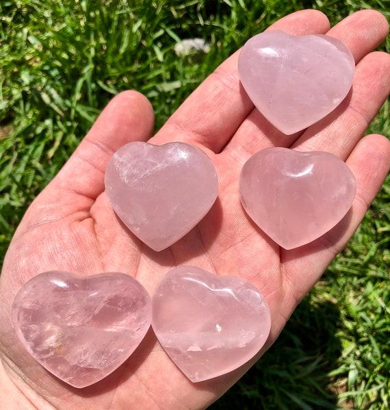 Heart Shaped StonesRose Quartz Selenite