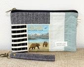 Wristlet Lake Clark National Park wristlet bag purse wallet National Park gift