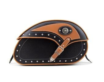 Motorcycle Saddle Bags, Side bags, Genuine Leather Motorcycle Bags, PU Leather Motorcycle Bags, Harley Bag, Yamaha Bag, Indian Bag