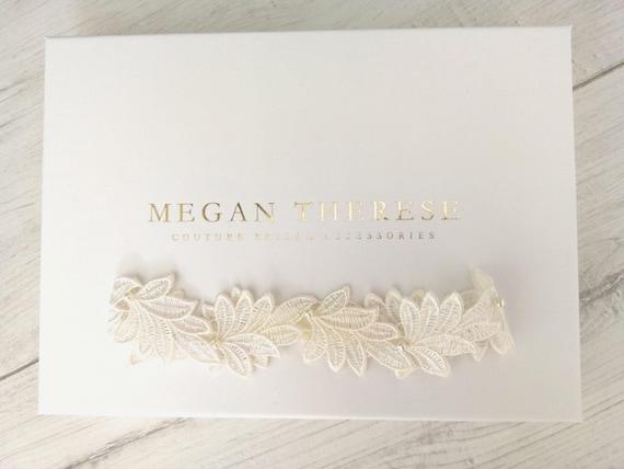 Leaf Garter Wedding Garter Bridal Garter Lace Garter Etsy