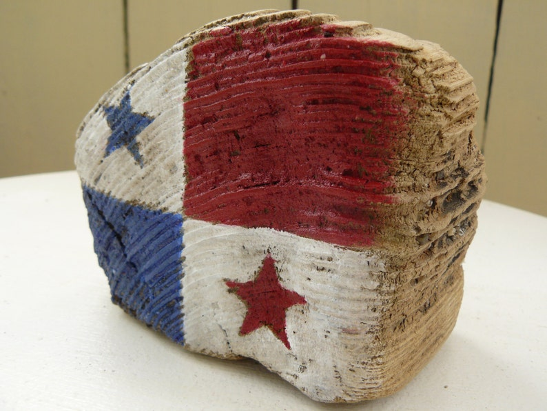 sea wood desk decor patriotic gifts for the office hand painted home decoration patriotic decor Panama flag wood Gift for travelers