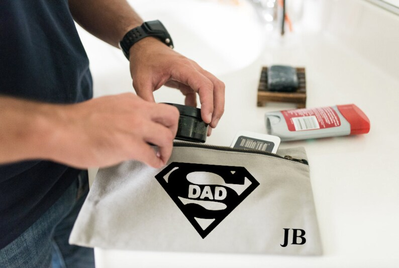 191f92dc1b Personalised Toiletry Bag SuperDad Gift Men Grooming bag