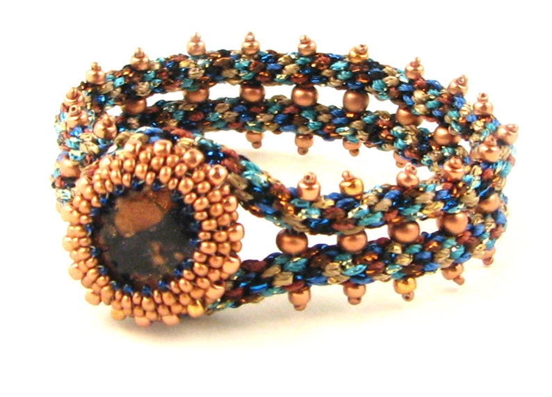Naomi Bead Weaving Kumihimo Bracelet Kit by Ann Benson
