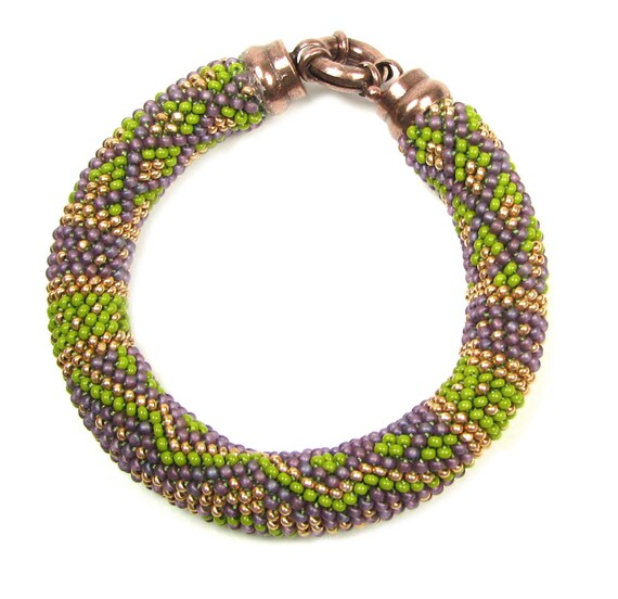 Doppelt Perle häkeln Copperation komplette Armband Kit von Ann | Etsy