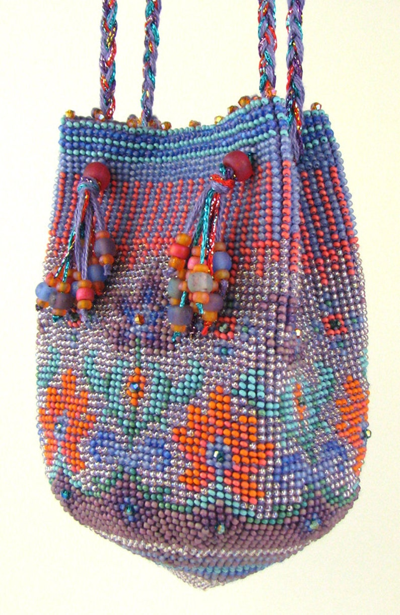 caprice bead crochet purse instant download pdf pattern etsy Watercolor Flowers image 0