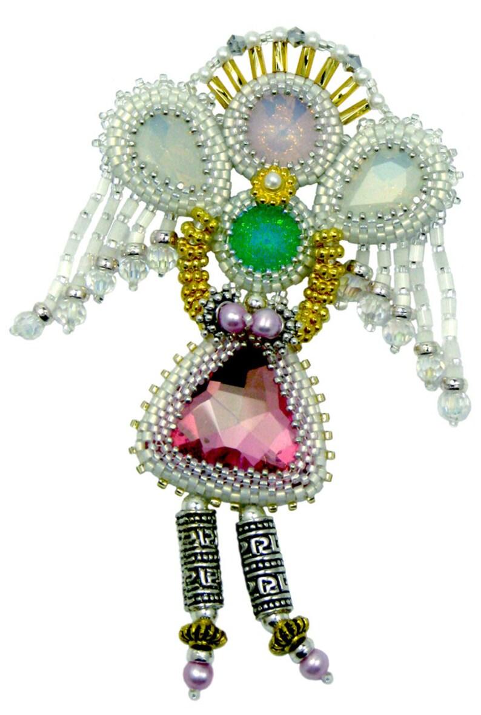 Opal Angel Bead Weaving instant download PDF pattern image 0