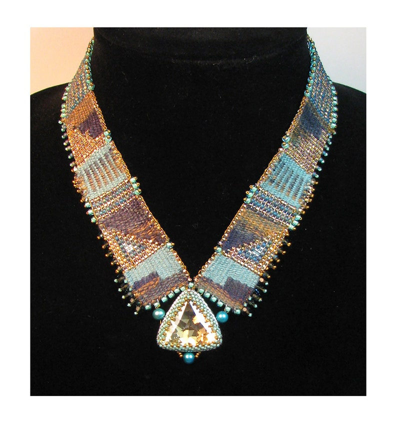 Alegria Bead and Fiber Looming Woven Necklace Kit by Ann image 0