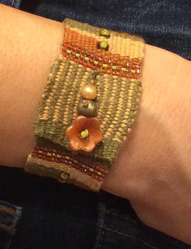 Tasha Bead and Fiber Tapestry Bracelet Kit by Ann Benson image 0
