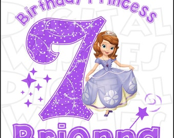 Princess Sofia The First Circle Birthday Image Personalized Etsy