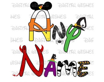 Disney font shirt | Etsy