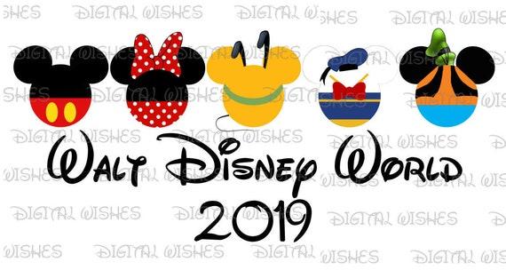 402e630c020c9 Fab 5 Five Mickey Mouse and gang heads ears Walt Disney World