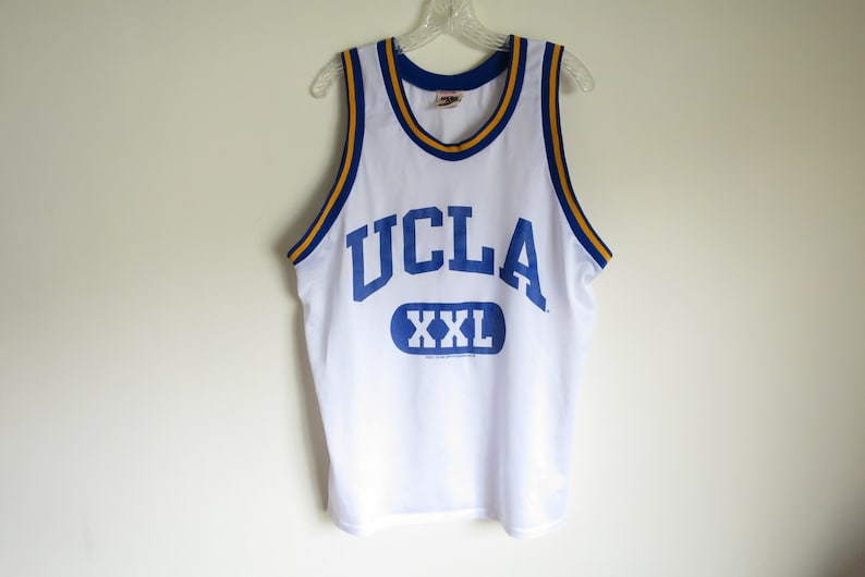 premium selection 8f634 14570 Vintage 90's UCLA Bruins XXL mesh basketball jersey | Made in USA | Large  (tag size) Large (fit)