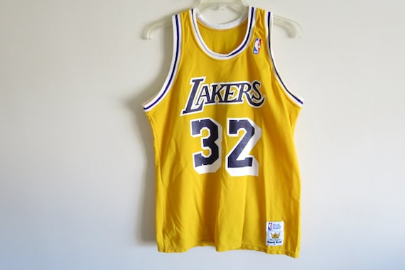 uk availability e3f78 885b9 Vintage 80's Los Angeles Lakers Magic Johnson #32 jersey by Sand Knit |  Made in USA
