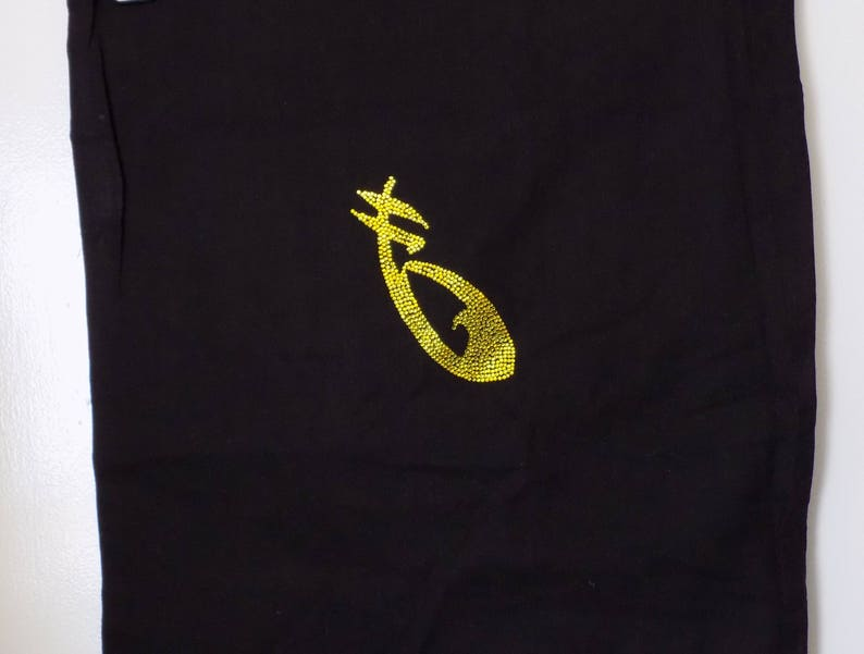 Handmade tote bag,Shadowhunters inspired Soundless Rune