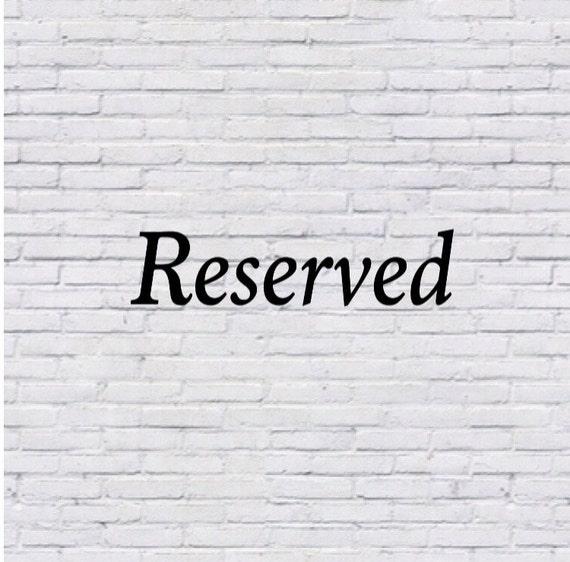 Reserved for _thegraygypsy_