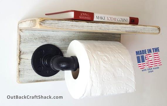 Pipe Toilet Paper Holder Antique White Toilet Roll Holder Etsy