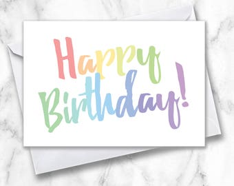 Thank you card thanks for your support card thanks card happy birthday greeting card simple birthday card rainbow birthday card happy birthday card b day card plain birthday card greeting m4hsunfo
