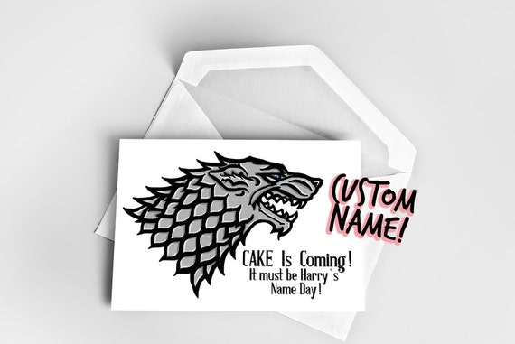 Birthday card game of thrones name day card game of thrones etsy image 0 m4hsunfo