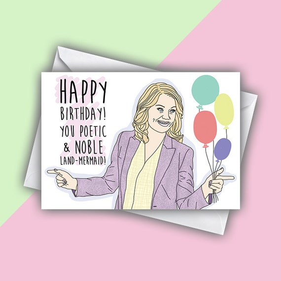 Birthday Greeting Card Leslie Knope Parks And Recreation