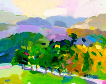 """NOW on CANVAS. Ready to Hang. Bragg Hill, Norwich, Vermont 1 an edition of twelve . aprox. 24  x 38"""", signed and numbered by Henry Isaacs"""