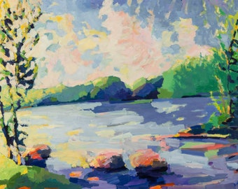NEW. Ricker Pond, Groton, Vermont  8 x 10 inches, ONLY Five prints, signed and numbered, by Henry Isaacs