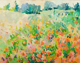 NEW. Wildflowers, Point Reyes,California, 9 x 12 in. giclee on paper by Henry Isaacs
