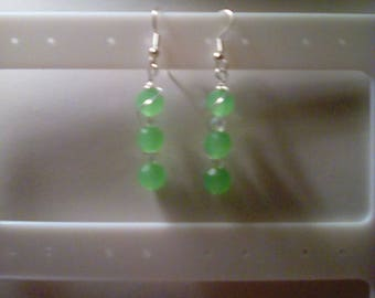 Frosted Faceted Earrings