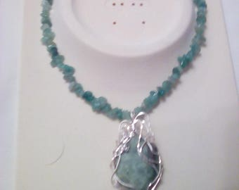 Jade Wirewrapped Pendant