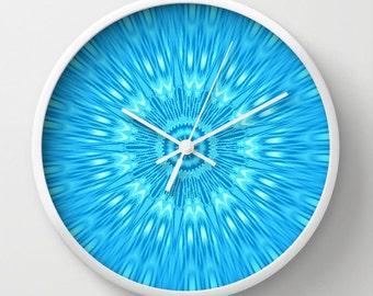 Clock, Turquoise Clock, Turquoise Wall Clock, Blue Clock, Blue Wall Clock, Turquoise Home Decor, Kitchen Clock, Nursery Clock