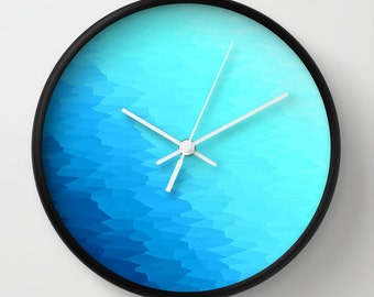Clock, Blue Clock, Texture Ombre Clock, Turquoise Clock, Turquoise Blue Clock, Blue Ombre Clock, Turquoise Ombre Clock, 7 Colors Available